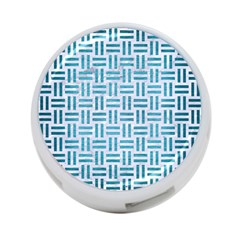 Woven1 White Marble & Teal Brushed Metal (r) 4 Port Usb Hub (one Side) by trendistuff