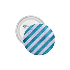Stripes3 White Marble & Teal Brushed Metal (r) 1 75  Buttons by trendistuff