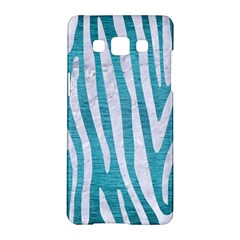 Skin4 White Marble & Teal Brushed Metal (r) Samsung Galaxy A5 Hardshell Case  by trendistuff