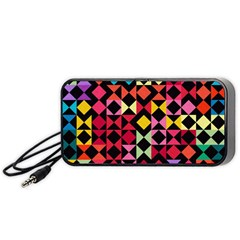 Colorful Rhombus And Triangles                               Portable Speaker by LalyLauraFLM