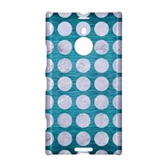 Circles1 White Marble & Teal Brushed Metal Nokia Lumia 1520 by trendistuff