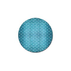 Brick1 White Marble & Teal Brushed Metal Golf Ball Marker (4 Pack) by trendistuff
