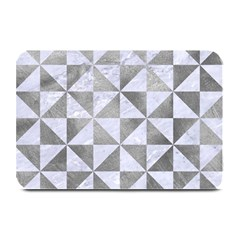 Triangle1 White Marble & Silver Paint Plate Mats by trendistuff