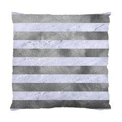 Stripes2white Marble & Silver Paint Standard Cushion Case (two Sides) by trendistuff
