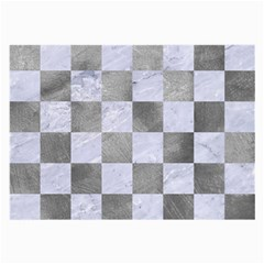 Square1 White Marble & Silver Paint Large Glasses Cloth by trendistuff