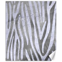 Skin4 White Marble & Silver Paint (r) Canvas 20  X 24   by trendistuff