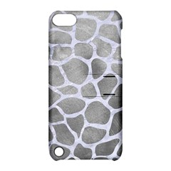 Skin1 White Marble & Silver Paint (r) Apple Ipod Touch 5 Hardshell Case With Stand by trendistuff