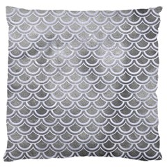 Scales2 White Marble & Silver Paint Large Cushion Case (two Sides) by trendistuff