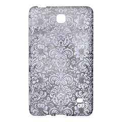 Damask2 White Marble & Silver Paint Samsung Galaxy Tab 4 (7 ) Hardshell Case  by trendistuff