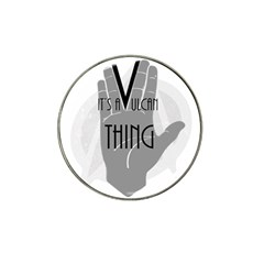 It s A Vulcan Thing Hat Clip Ball Marker by Howtobead