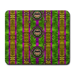 Sunset Love In The Rainbow Decorative Large Mousepads by pepitasart