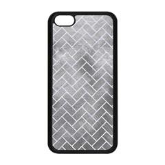 Brick2 White Marble & Silver Paint Apple Iphone 5c Seamless Case (black) by trendistuff
