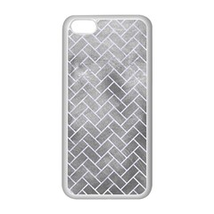 Brick2 White Marble & Silver Paint Apple Iphone 5c Seamless Case (white) by trendistuff
