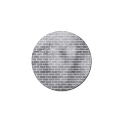 Brick1 White Marble & Silver Paint Golf Ball Marker by trendistuff
