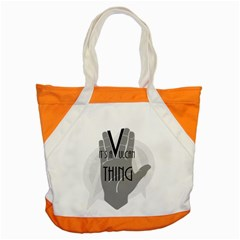 Vulcan Thing Accent Tote Bag by Howtobead