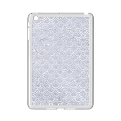 Scales2 White Marble & Silver Glitter Ipad Mini 2 Enamel Coated Cases by trendistuff