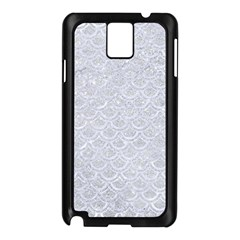 Scales2 White Marble & Silver Glitter Samsung Galaxy Note 3 N9005 Case (black) by trendistuff