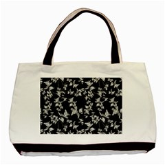 Dark Orquideas Floral Pattern Print Basic Tote Bag (two Sides) by dflcprints