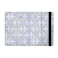 Puzzle1 White Marble & Silver Glitter Ipad Mini 2 Flip Cases by trendistuff