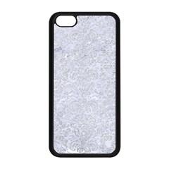 Damask2 White Marble & Silver Glitter (r) Apple Iphone 5c Seamless Case (black) by trendistuff