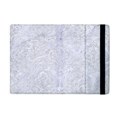 Damask1 White Marble & Silver Glitter (r) Ipad Mini 2 Flip Cases by trendistuff