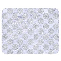 Circles2 White Marble & Silver Glitter (r) Double Sided Flano Blanket (medium)  by trendistuff