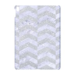 Chevron2 White Marble & Silver Glitter Apple Ipad Pro 10 5   Hardshell Case by trendistuff