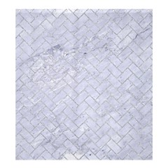 Brick2 White Marble & Silver Glitter (r) Shower Curtain 66  X 72  (large)  by trendistuff