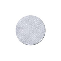 Brick2 White Marble & Silver Glitter Golf Ball Marker (10 Pack) by trendistuff