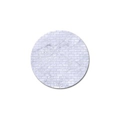 Brick1 White Marble & Silver Glitter (r) Golf Ball Marker (10 Pack) by trendistuff