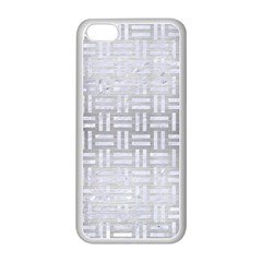 Woven1 White Marble & Silver Brushed Metal Apple Iphone 5c Seamless Case (white) by trendistuff