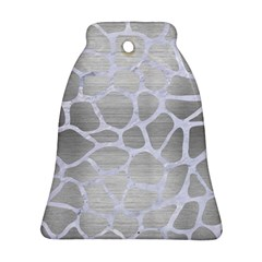 Skin1 White Marble & Silver Brushed Metal (r) Ornament (bell) by trendistuff
