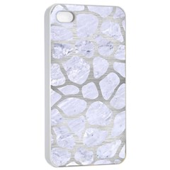 Skin1 White Marble & Silver Brushed Metal Apple Iphone 4/4s Seamless Case (white) by trendistuff