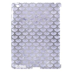 Scales3 White Marble & Silver Brushed Metal (r) Apple Ipad 3/4 Hardshell Case (compatible With Smart Cover) by trendistuff