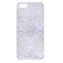 Damask1 White Marble & Silver Brushed Metal (r) Apple Iphone 5 Seamless Case (white) by trendistuff