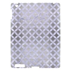 Circles3 White Marble & Silver Brushed Metal Apple Ipad 3/4 Hardshell Case by trendistuff