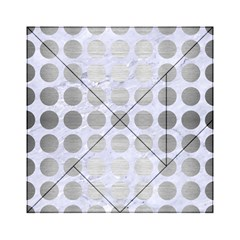 Circles1 White Marble & Silver Brushed Metal (r) Acrylic Tangram Puzzle (6  X 6 ) by trendistuff