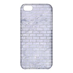 Brick1 White Marble & Silver Brushed Metal (r) Apple Iphone 5c Hardshell Case by trendistuff