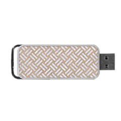 Woven2 White Marble & Sand Portable Usb Flash (one Side) by trendistuff