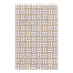 Woven1 White Marble & Sand Shower Curtain 48  X 72  (small)  by trendistuff