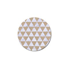 Triangle3 White Marble & Sand Golf Ball Marker by trendistuff