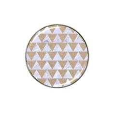 Triangle2 White Marble & Sand Hat Clip Ball Marker (10 Pack) by trendistuff