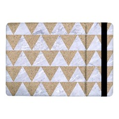 Triangle2 White Marble & Sand Samsung Galaxy Tab Pro 10 1  Flip Case