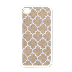 Tile1 White Marble & Sand Apple Iphone 4 Case (white)