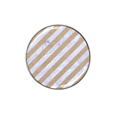 Stripes3 White Marble & Sand (r) Hat Clip Ball Marker (10 Pack) by trendistuff
