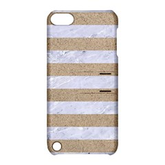 Stripes2white Marble & Sand Apple Ipod Touch 5 Hardshell Case With Stand by trendistuff