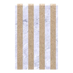 Stripes1 White Marble & Sand Shower Curtain 48  X 72  (small)  by trendistuff