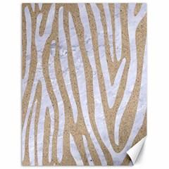 Skin4 White Marble & Sand (r) Canvas 18  X 24   by trendistuff