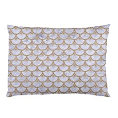 Scales3 White Marble & Sand (r) Pillow Case (two Sides) by trendistuff