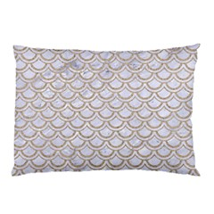 Scales2 White Marble & Sand (r) Pillow Case by trendistuff